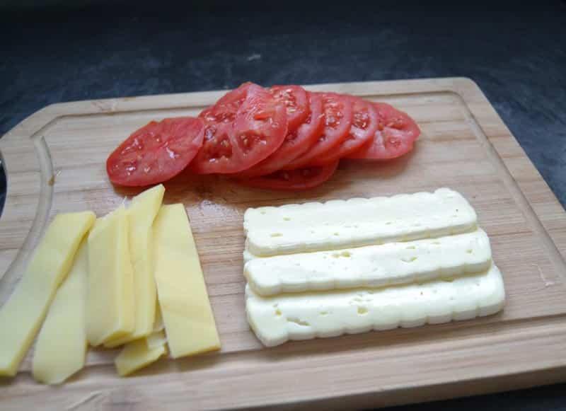 Tomaten, Brie, Käse