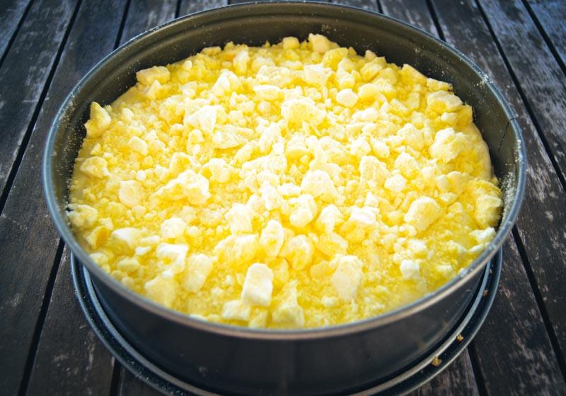 Frischkäse Torte mit Zitronen Baiser