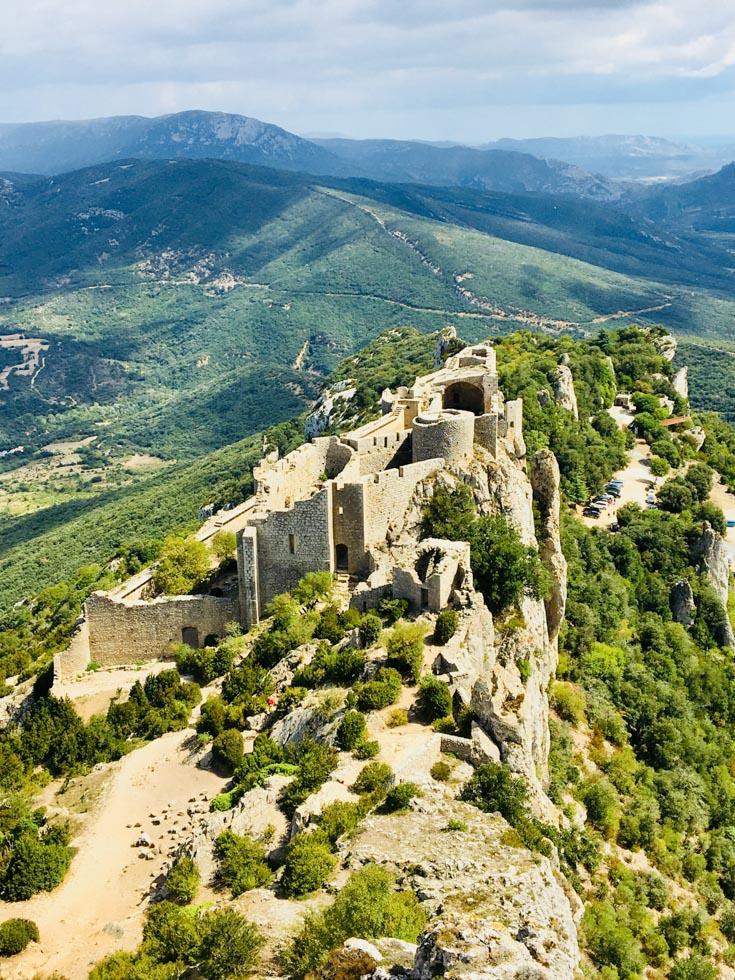 Katharer Burg Peyrepertuse Languedoc