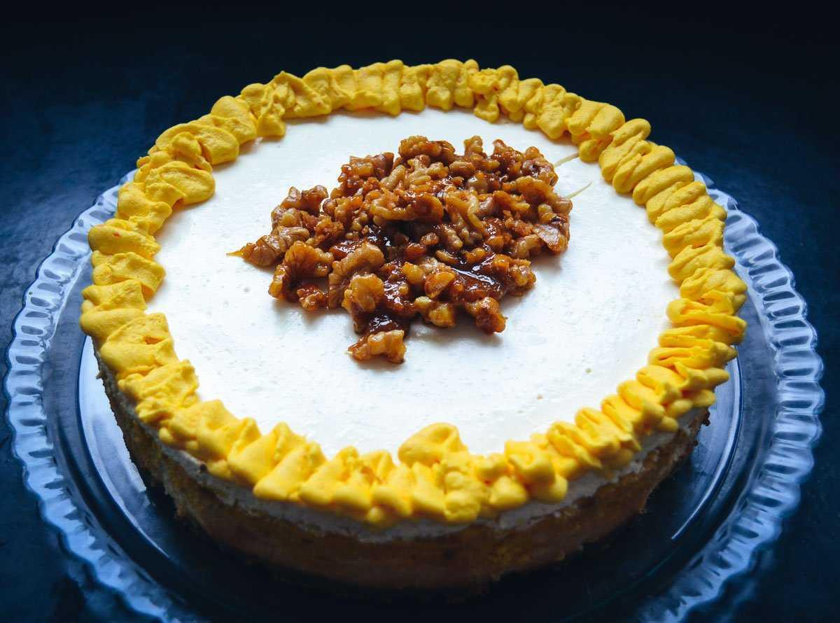 Cheesecake Rezept mit Kürbis und karamellisierten Walnüssen