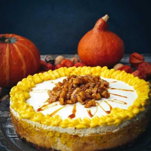 American Cheesecake Rezept mit Hokkaido Kürbis