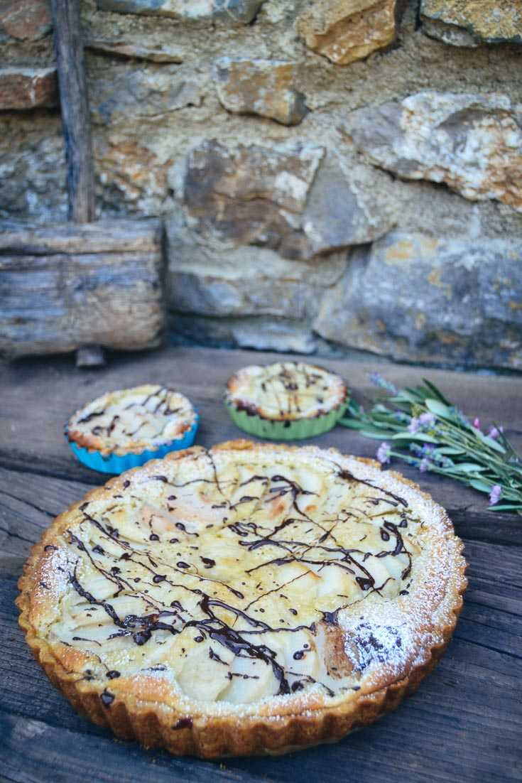 Birnentarte  einfaches Birnenkuchen Rezept