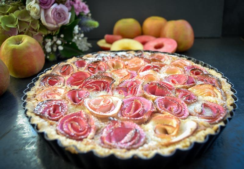 Apfelrosen Tarte Rezepte Apfelrose in Mandelcreme