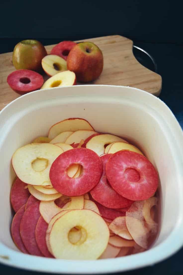 gehobelte Äpfel
