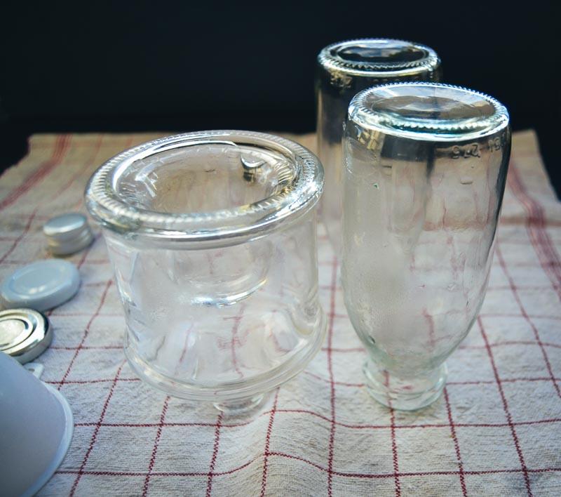 ausgekochte Saftflaschen