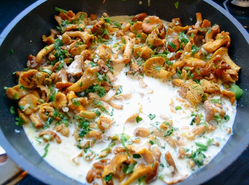 Pilzsauce mit Pfifferlinge und Sahne