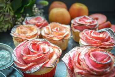 Apfelrosen Muffins kinderleicht gebacken