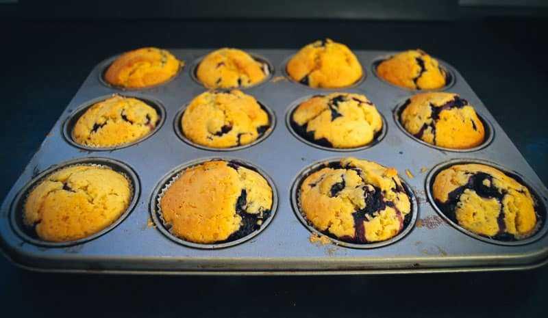 Buttermilch Muffins mit Blaubeeren
