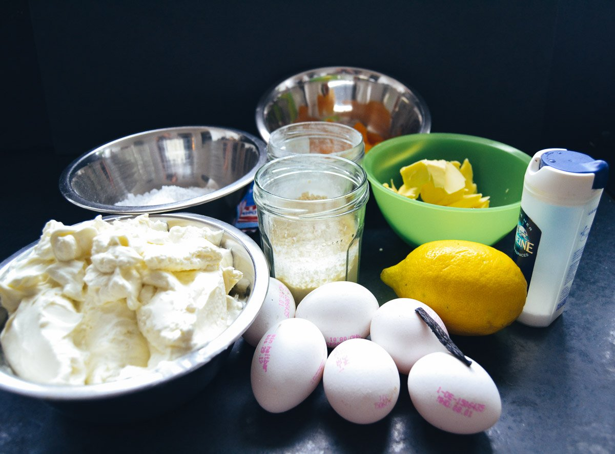 Quark, Eier, Zucker, Zitrone Mandarinen