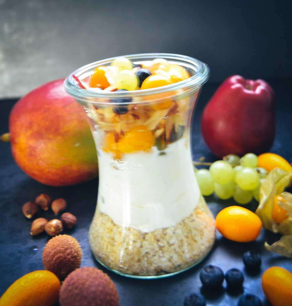 Overnight Oats Haferflocken Rezepte gesundes Frühstück