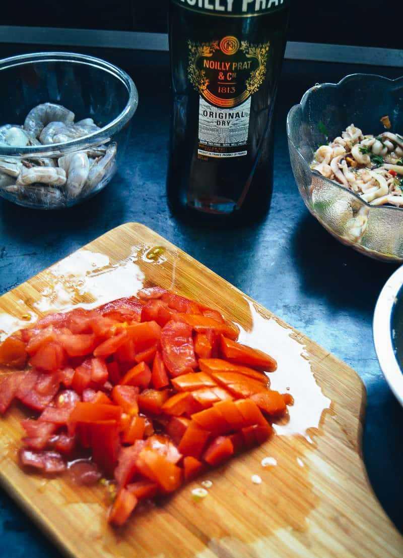 gehackte Tomaten