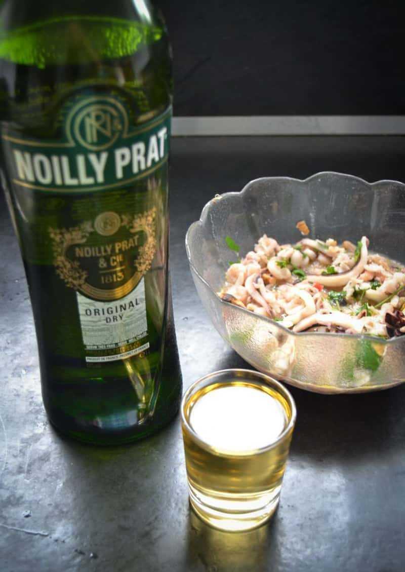 Meeresfrüchte , Wein , Noilly Prat