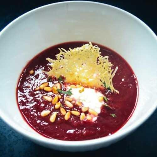 Rote Bete Suppe Rezept mit Meerrettich