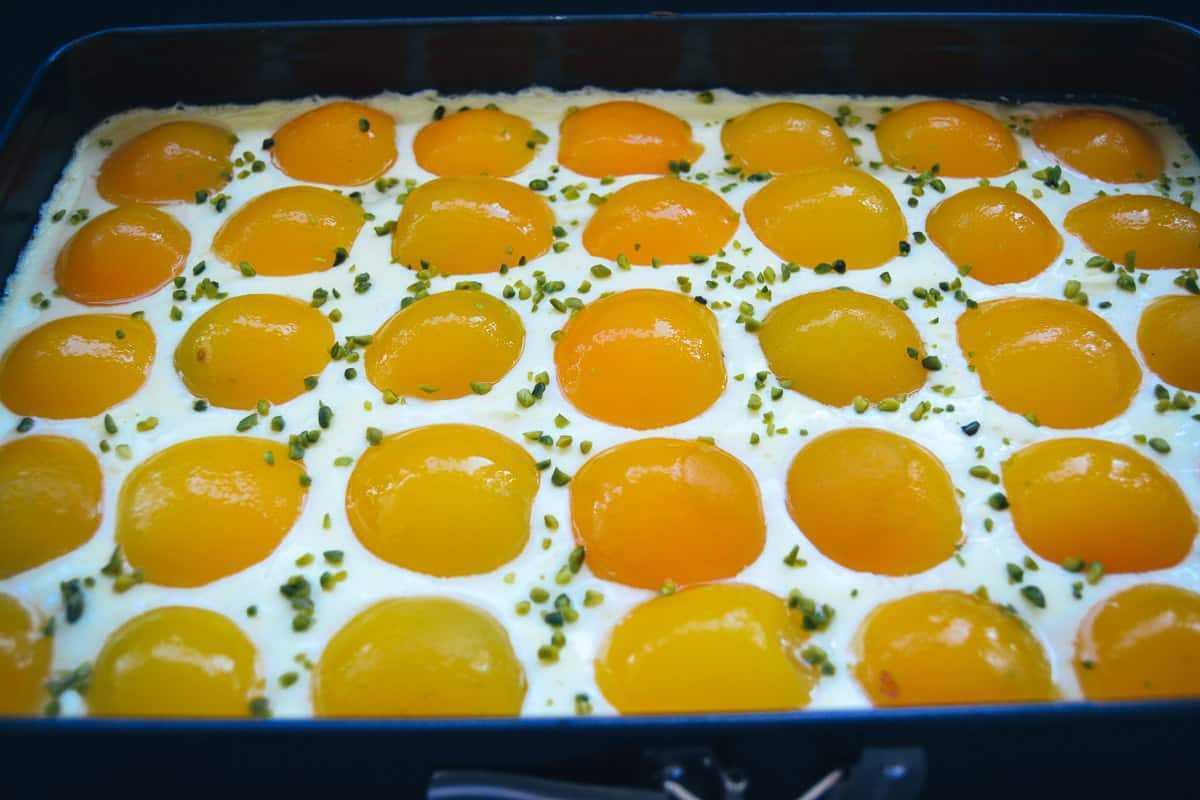 Spiegeleikuchen mit aprikosen