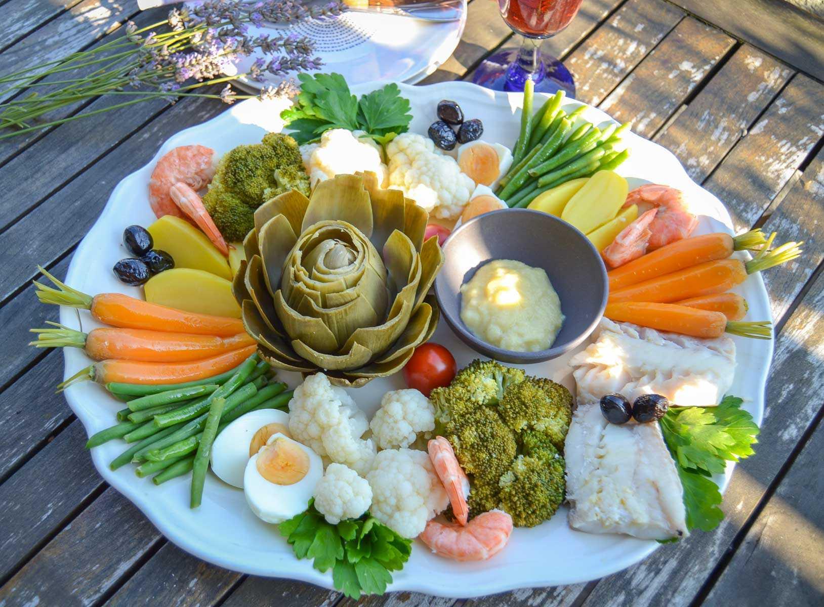 original Aioli Rezept provencal mit Gemüse