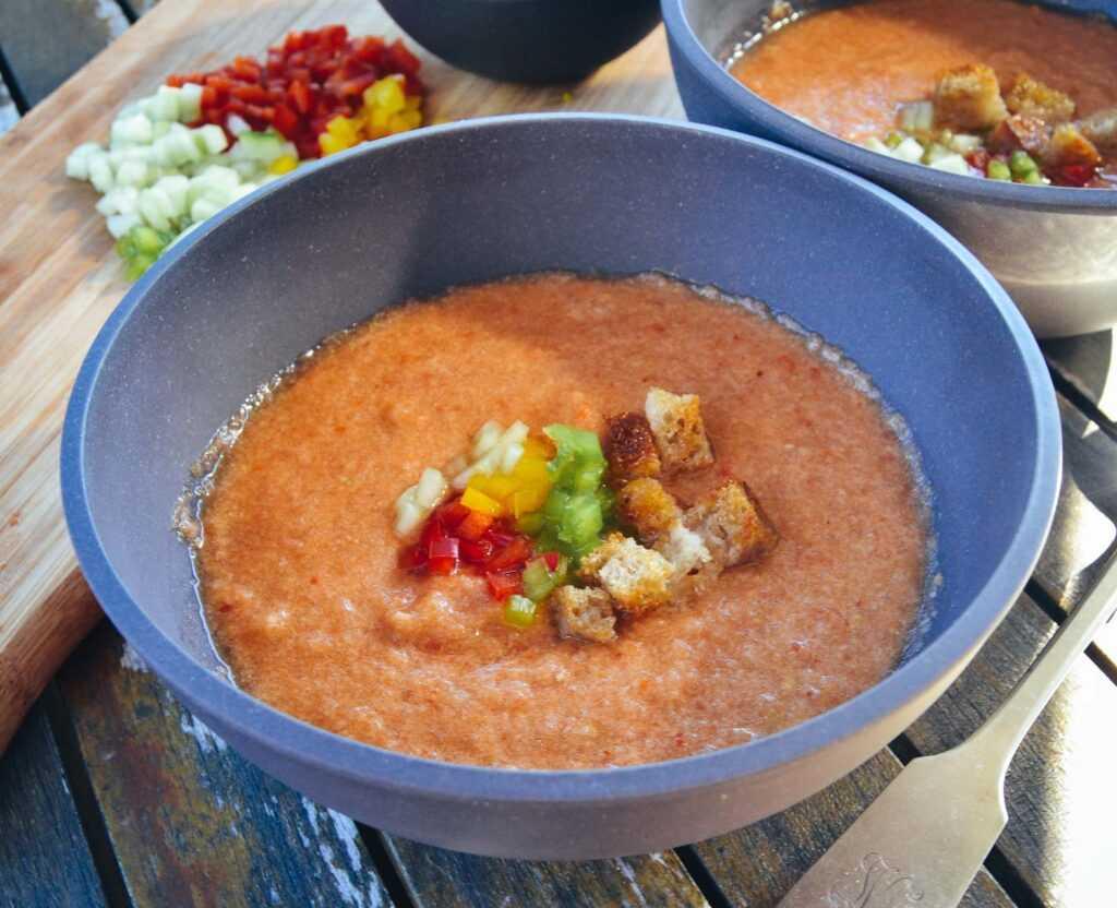Gazpacho Rezept kalte spanische Suppe
