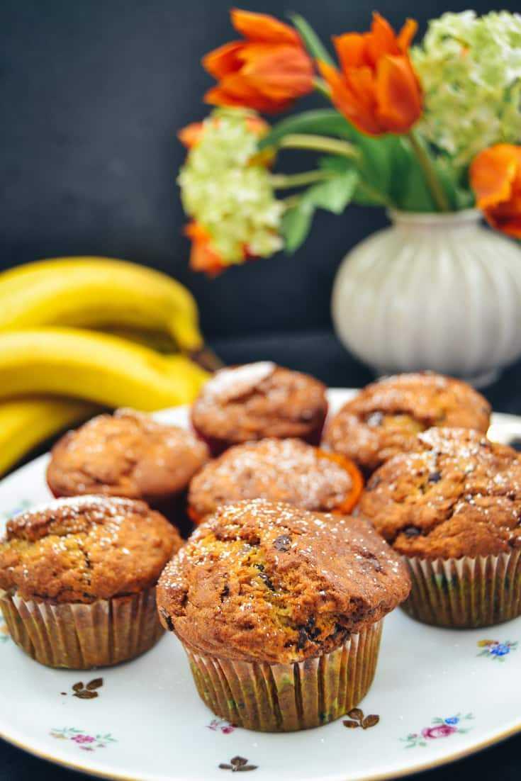 Schoko Bananenmuffins