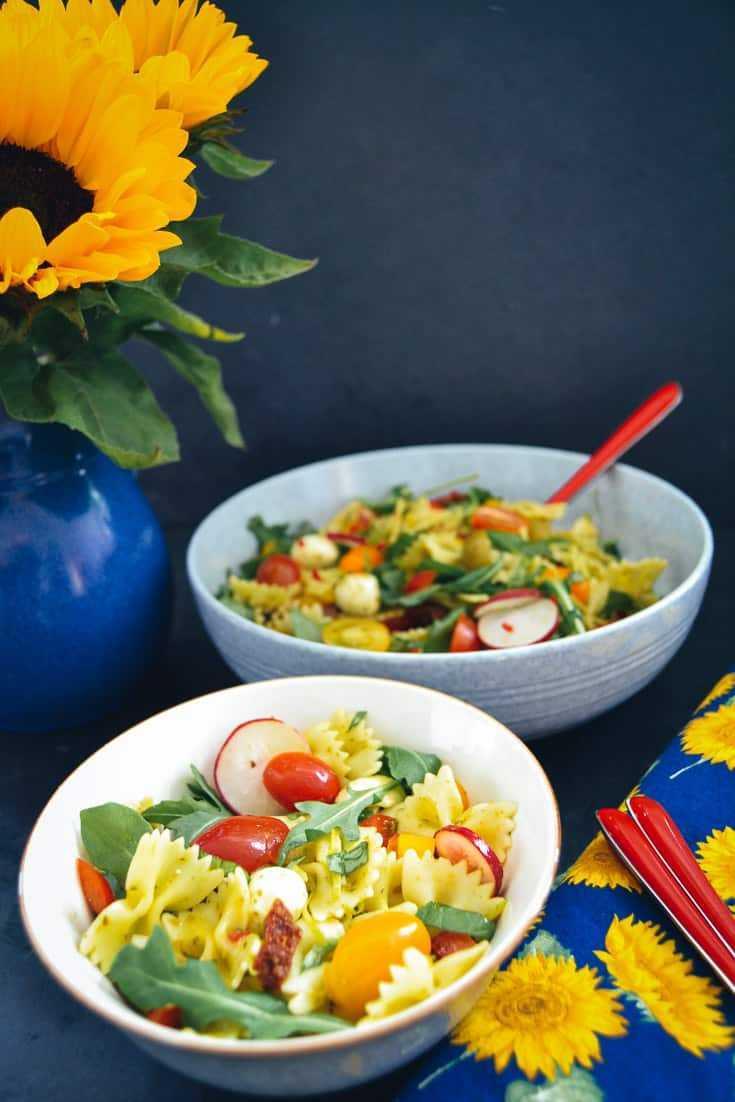 Rezept Nudelsalat italienischer Farfalle Salat
