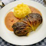 Kohlrouladen - Wirsingrouladen mit Kartoffelpüree