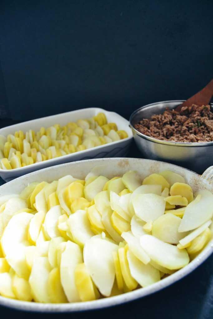 Kohlrabi Auflauf mit Kartoffeln