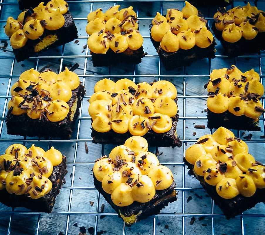 Schoko Brownie mit Dulce de Leche