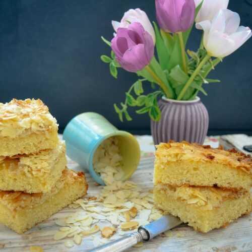 schneller Blechkuchen mit Mandeln