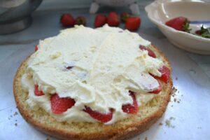 Erdbeeren mit Pudding
