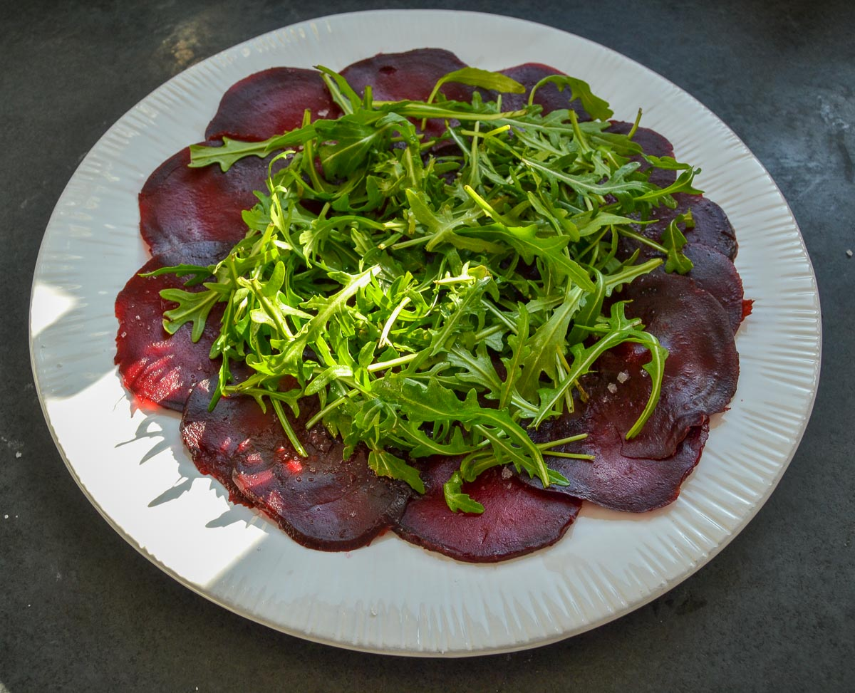Rote Beete mit Rucola
