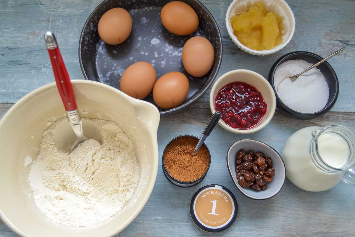 Rezept Zutaten Kaiserschmarrn, Eier, Mehl, Milch, Zucker,