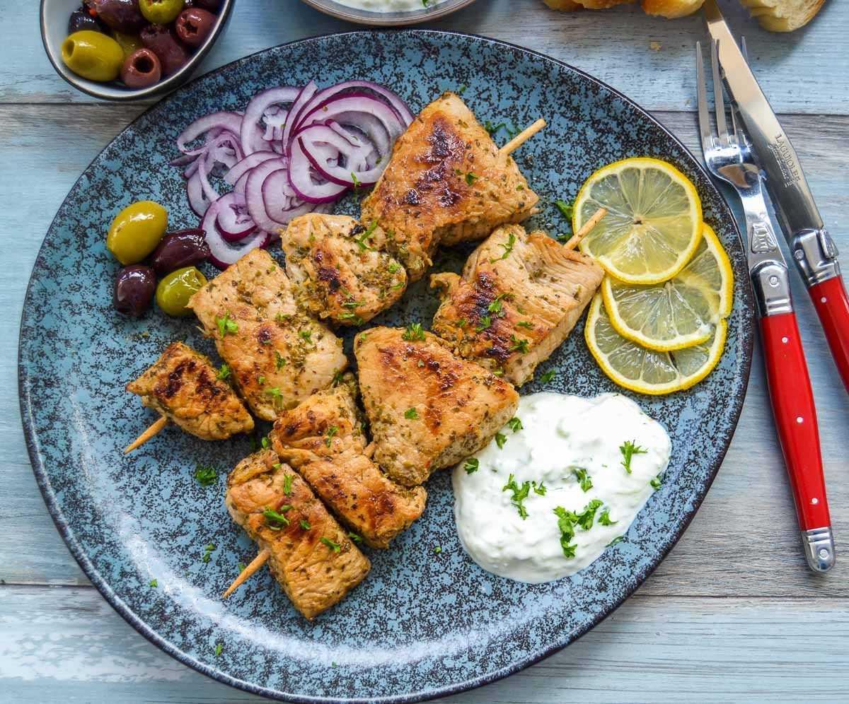 Souvlaki Rezept griechische Fleischspieße