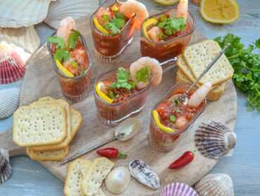 Shrimps Cocktail Garnelen in Tomatensalsa