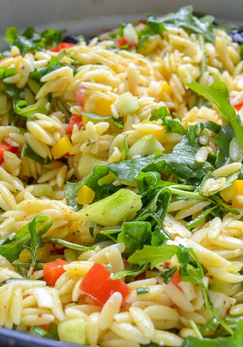 Kritharaki Salat mit Feta